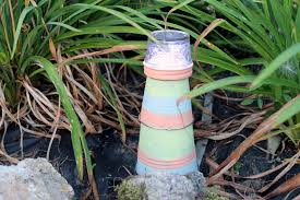 Diy Craft Projects For The Yard And Garden - garden lighthouse a fun diy project the country chic cottage