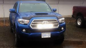 tacoma grill light bar behind the grill install of our led light bar brightsource
