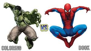 spiderman vs hulk coloring pages coloring book for kids 2 youtube