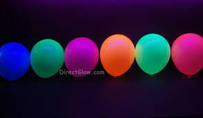 Lighted Balloons Facebook Circle Punched