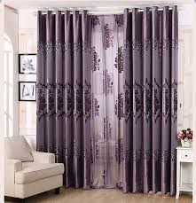 dark purple floral luxury blackout curtains