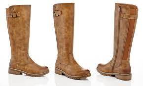 womens knee high boots eddie marc s knee high biker rocker boots groupon