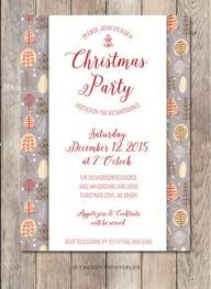pale aqua and brown snowflake christmas dinner party invitation