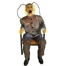 does spirit halloween sell contact lenses in store death row electrocuted prisoner animated prop walmart com