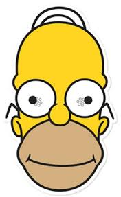 homer simpson homer simpson party face mask the simpsons available now at