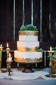 Wedding Cake Display Romantic Gold Wedding Cake Display On Wedding Reception
