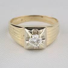 pre owned men u0027s vintage 60 carat solitaire ring