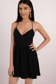 klshort black dresses black skater dress open back dress black dress black flare