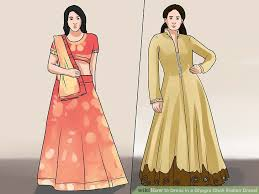 Different Ways Of Draping Dupatta On Lehenga How To Dress In A Ghagra Choli Indian Dress 13 Steps