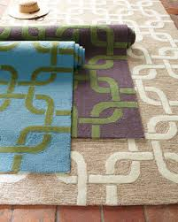 Horchow Outdoor Rugs Horchow Modern Links Outdoor Rug Turquoise Purple Green Beige