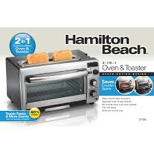 Toast In Toaster Oven Hamilton Beach 2 In 1 Oven And Toaster 31156