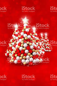 White Christmas Tree Red Gold Decorations by Happy Christmas Tree Decoration White Red Gold Balls Stock Photo