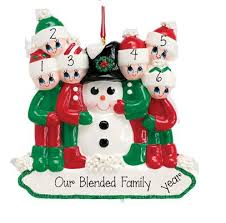 family of 6 my personalized ornaments