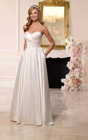 plus size satin wedding dress stella york wedding dresses