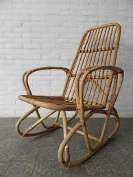 Rattan Swivel Rocker Chair Vintage Bamboo And Rattan Rocking Chair For Sale At Pamono