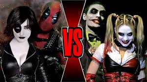 deadpool and domino vs joker and harley quinn death battle youtube