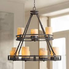 faux candle light fixtures sunset onyx stone 12 light faux candle chandelier r6623 ls
