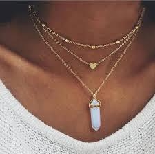 heart pendant choker necklace images Julianna opal gemstone triple layered heart choker necklace in jpg