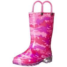 light up rain boots western chief girls neo camo lighted rain boots light up 8 medium