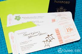 diy invitations diy boarding pass invitation save the date aylee bits