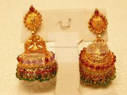 gold jhumka earrings gold buttalu designs search earrings gold