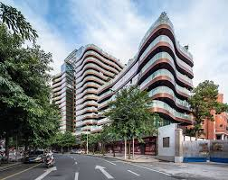 Apartment Complex Floor Plans Next Architects Reveals Undulating Shouxi Stone Inspired Fuzhou