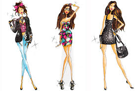 fashion designs sketches for girls