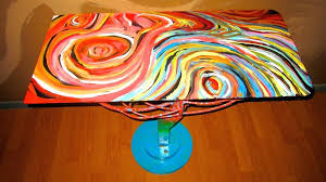 paint glass table top to apply picture on stunning spray painting glass table painted
