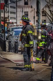 print oil painting canvas firefighter fireman firehouse fire truck new york city street wall art firefighter ilration mancave canvas art