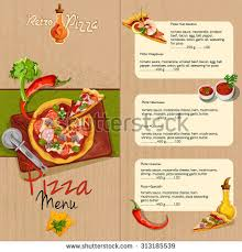 christmas holidays restaurant menu prices template stock vector