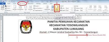 cara membuat kop surat dan logo cara membuat garis kop surat yang benar di word 2007 2010 2013