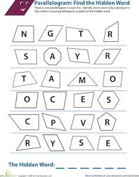 identifying parallelograms worksheet education com