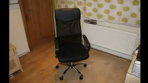Office Chair Black Leather A New Mesh And Leather Office Chair Youtube