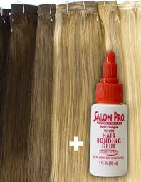 glue in extensions ei hair extensions with glue 14 22 diy set weft eboni and ivory