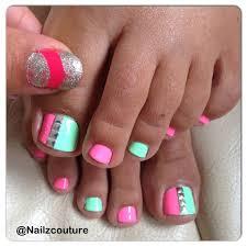 best 20 bright toe nails ideas on pinterest toenails pedicure
