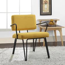 Upholstered Accent Chair Palm Springs Yellow Upholstery Accent Chair Free Shipping Today