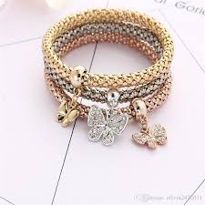 bracelet color crystal images Mix designs fashion gold color crystal charms bracelet bangle jpg