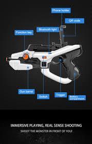 2017 htomt ar gun augmented reality plastic toy gun bluetooth