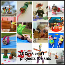 tinker tinker craft 15 cork craft projects for kids