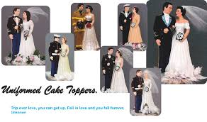 marine cake toppers personalized wedding cake tops to look like the and groom on