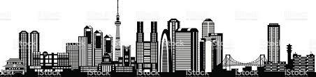 tokyo city skyline silhouette stock vector art 163968703 istock
