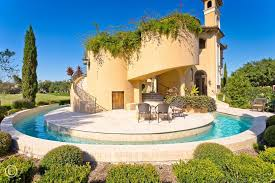 Backyard Pool With Lazy River Mediterranean Exterior Of Home With Raised Beds U0026 Lazy River In