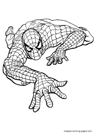 spiderman coloring sheet games activities subjects