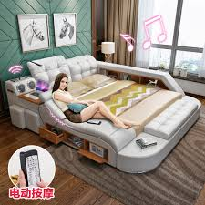 usd 582 17 massaging leather tatami bed skin leather art bed