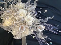 Quinceanera Bouquets Ivory Silver Plated Bridal Bouquet Ramo De Novia Quinceañera