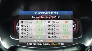 renault samsung sm6 renault samsung sm6 1 5 dci acceleration youtube