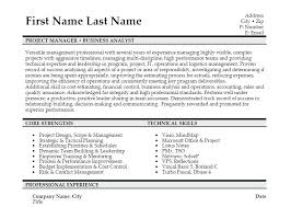ba resume format best resume template for project manager click here to download