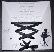 faire part mariage et blanc faire part de mariage corset fée noir et blanc personnalisable
