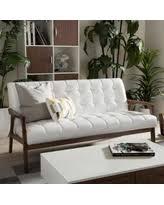 Midcentury Leather Sofa Faux Leather Mid Century Sofas U0026 Loveseats Bhg Com Shop