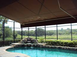 Patio Umbrella With Screen Enclosure Retractable Awning Within Screened Pool Enclosure Search